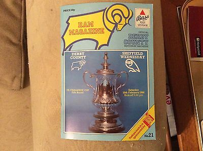 Derby County v Sheff Weds 1985-86 FA Cup Programme