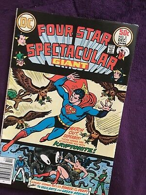 Giant Four Star Spectacular #5,DC 33486 Nov '76 ,w sheet & board  VG++ condition