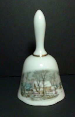 Vintage AVON Rep Award CURRIER AND IVES  Winter Scene BELL  1978