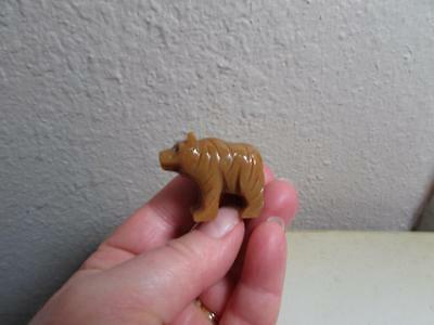 Brown Bear, Miniature Hand carved Marble from the Andes, Richly Hued stone Bear