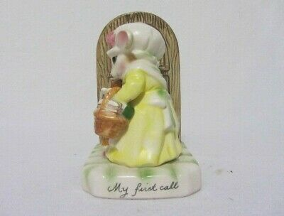 Vintage Porcelain Avon My First Call The Precious Moments Collection Figurine