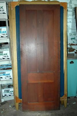 Antique Vintage Solid Wood 4 Panel House Door 81.25x29-7/8""