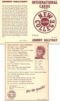 Introuvable ! International Cards New College Club - Johnny Hallyday