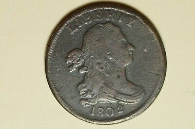 1802/0 Draped Bust Half Cent Electrotype 1860's Cast / Restrike