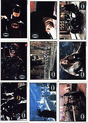 Batman Returns Trading Cards - 10 Card Sticker Set (Topps)