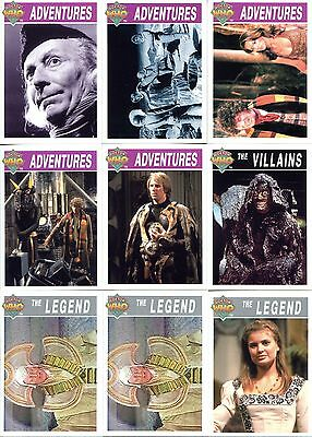 DOCTOR WHO Series 2 Trading Cards - 9 Cards (Cornerstone - 1995)