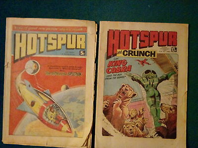 2 Off Hotspur Comics No 889 From Oct'76 And 1060 From Feb'80