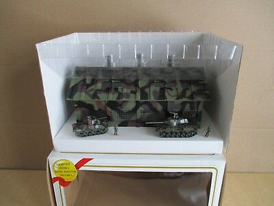 Model Power Ho Scale Munitions Depot--Lighted With 2 Tanks--Figures--New In Box-