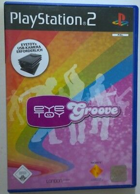 eye toy Groove Sony Playstation 2 (PS2) OVP * SEHR GUT  VERY GOOD *