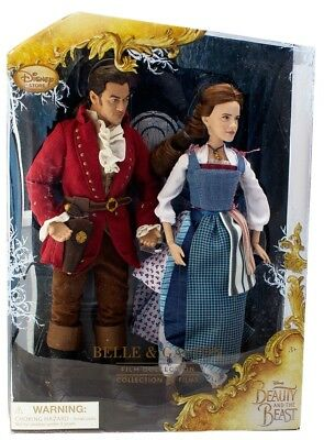 Beauty And The Beast Belle & Gaston Film Collection Doll Set Live Action NEW