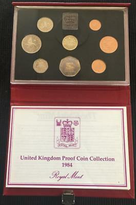1984 Royal Mint UK Proof Coin Set In Red Standard Case With C.O.A