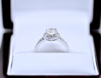 18ct White gold Diamond Engagement Ring1.38Ct