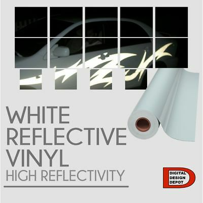 """White Reflective Vinyl sign supplies Sign Hight Reflectivity 24"""" x 1 FT"""