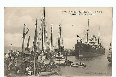 Cpa Afrique , Guinee , Conakry , Le Warf