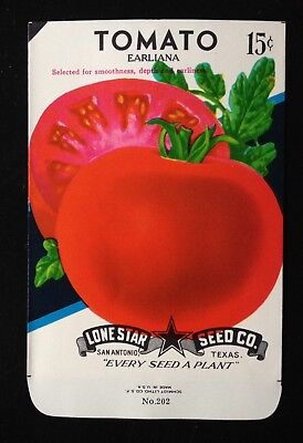 LONE STAR SEED CO.~ NOS SEED PACK~15c TOMATO (EARLIANA)