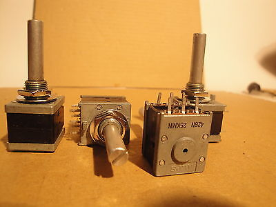4 Ea ALPS DUAL 25K Balance Audio Potentiometers P/N 426N