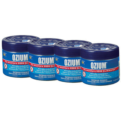 Ozium Smoke Odors Eliminator Gel Car Home Air Freshener Outdoor Essence 4pk