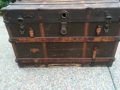 Antique Steamer Trunk by Detroit Trunk Company