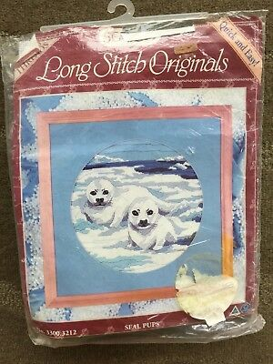 "Semco ""seal Pups"" No. 3087 Long Stitch Originals Kit"