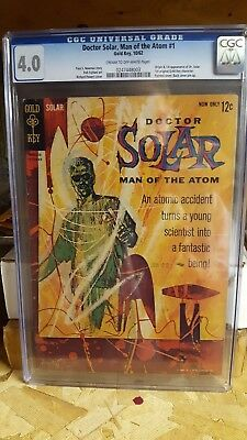 doctor solar man of the atom # 1 Gold Key CGC 4.0 Very Nice! Look !