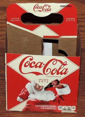 NM USA LE COCA-COLA HOLIDAY 2012 SANTA 12oz 4-PACK SODA BOTTLE CARTON CARRIER