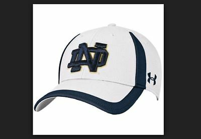 fa0d36c024a Notre Dame Fighting Irish Under Armour Sideline Touchback Adjustable Hat -  White