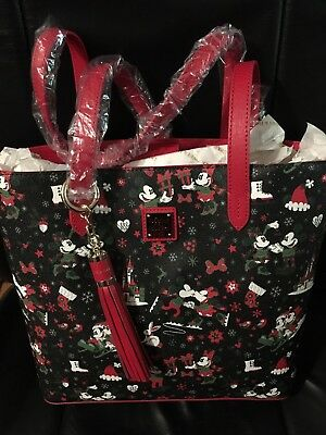 Disney Christmas Woodland  Tote Dooney and Bourke Bag in Hand ready 2 Ship Bag c