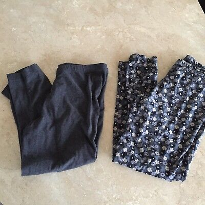 OLD NAVY Womens Large Leggings Lot Of 2 Gray Pattern
