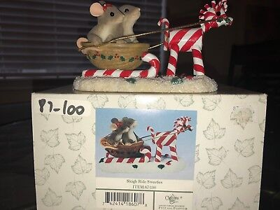 Charming Tails Mouse Figurine Sleigh Ride Sweeties Item 87/100 Limited Edition
