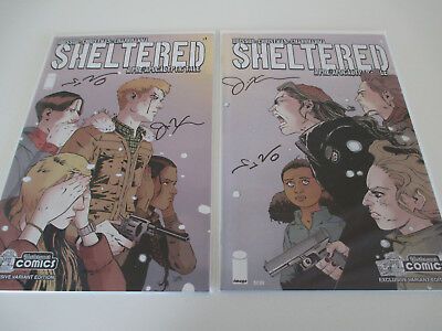 SHELTERED #1 & #6 YESTERYEAR VARIANTS both SIGNED by BRISSON & CHRISTMAS w/COA