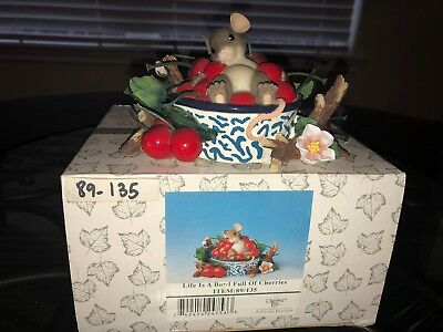 """Charming Tails Mice Figurine """" Life Is A Bowl Full Of Cherries """" 89/135"""