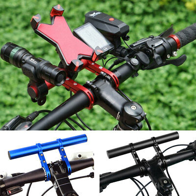 Bike Bicycle Handlebar Extension Mount Cycling Front Light Torch GPS Horn Holder