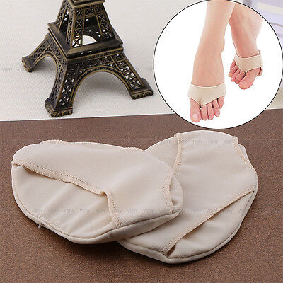 1 Pair Fabric Ball of Foot Gel Pads Cushion Metatarsal Forefoot Support Insoles