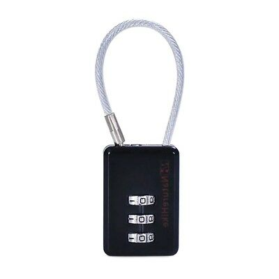 NatureHike Outdoor Travel Security Lock Luggage 3 digits Padlock with Cable U2B4