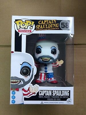 Funko pop Captain Spaulding Rob Zombie House of 1000 corpses devil's rejects