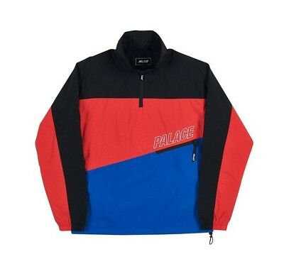 e8655bfa043f Palace Skateboards 3-Track Shell Top Black Hibiscus Blue Size L NEW SS18