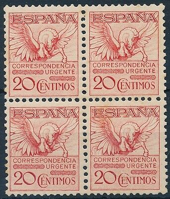 Spain - mail- Year: 1931 - number 00592A - Urgent Nice block of 4