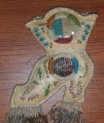 Antique Iroquois Pin Cushion Boot Shaped Late 1800's
