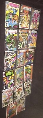 Mixed Lot Marvel Comic Books huge hulk ,X-men micronauts
