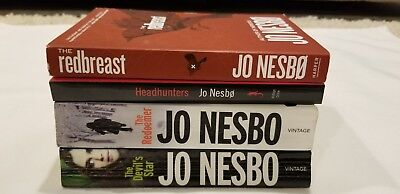 Lot of 4 Books by Author Jo Nesbo...all PBs, Mystery/Suspense/Harry Hole Series