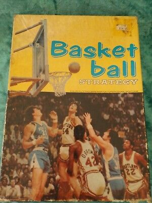 vintage retro Basketball Strategy Board Game 1974  - incomplete good for parts