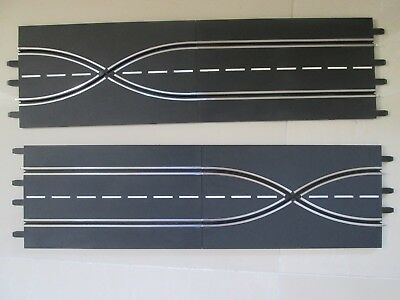 Carrera Evolution Crossover x2 straights x2 EC! for slot car track 1/24 1/32