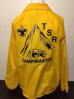 Vintage 1980s Boy Scouts Of America Campmaster Jacket XL Camp Trask Windbreaker