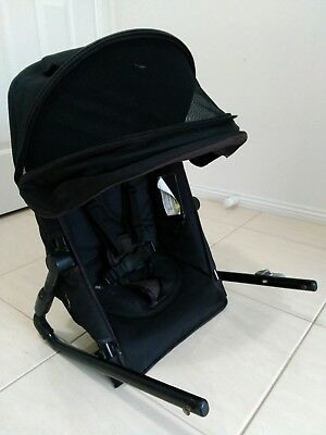 Second seat for for Steelcraft Strider Plus pram in Black with canopy