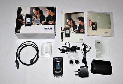 Retro Classic Nokia Unlocked Mobile Flip Top Phone 6131 2G 4 Band + Extras Vgc