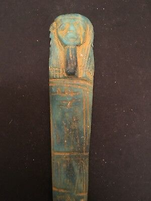 Rare Ancient Egyptian Column Amulet 26th DYN 680 Bc
