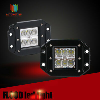3in Cree LED Pod Work Light Bar Driving Flood beam fog Lamp OffRoad Truck 2pcs