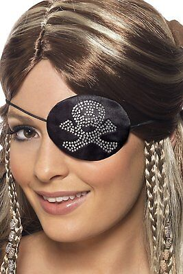 Halloween Pirates Eye Patch with diamante motif