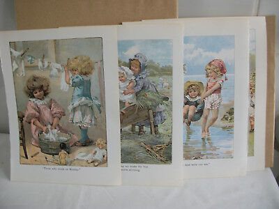 Mixed bookplates from Childrens Nursery Rhymes book Ref 7. Children Playing