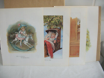Mixed bookplates from Childrens Nursery Rhymes book Ref 5 Baby. Mother. J&J